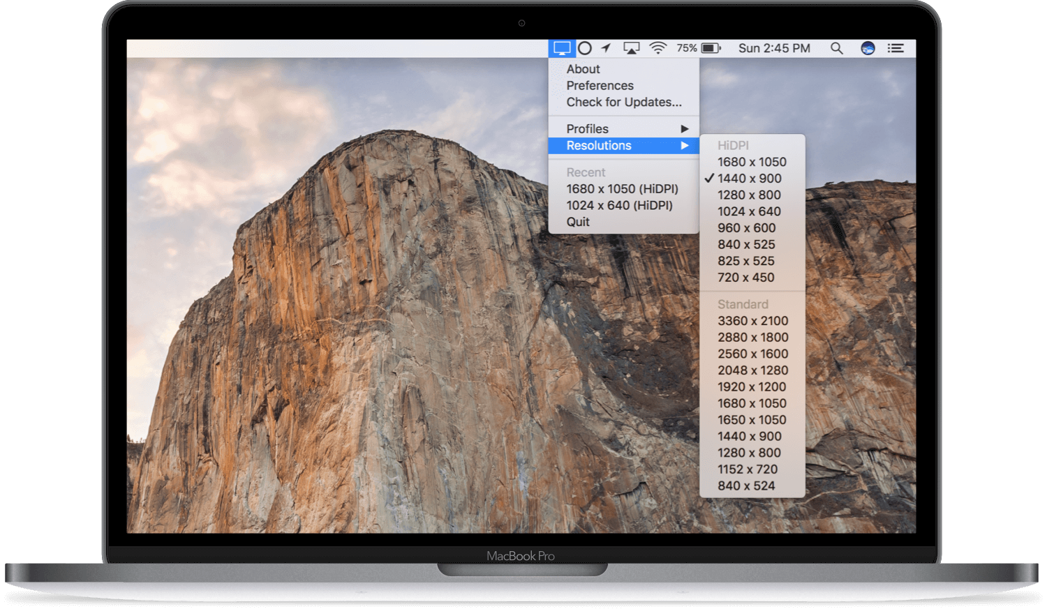 Quickres the best way to change screen resolutions on your mac ccuart Image collections